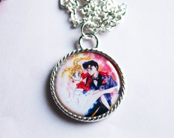 Sailor Moon Tuxedo Mask Anime Manga Kawaii Cameo Necklace