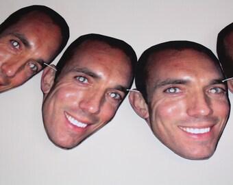 Printed Face Mask Bunting- Custom made