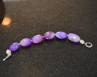 Purple Faceted Jasper Beaded Bracelet