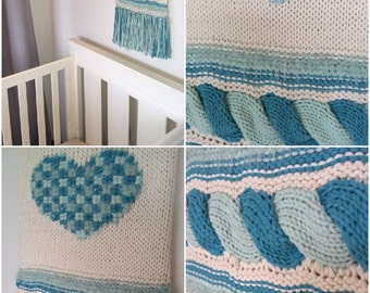 Textured wall hanging
