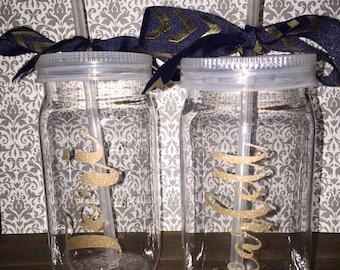 Personalized Mason Jar Cups