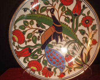 neofitou hand made in greece 24k gold paint Plate = dia 22cm