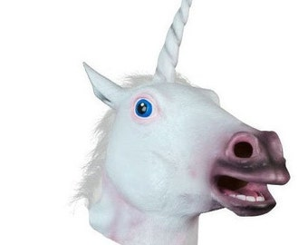 New Creepy Horse Mask Head Halloween Costume Theater Prop Novelty Latex Rubber
