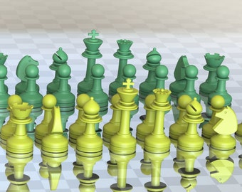 MILOSAURUS Staunton-style Chess Set (3D-printable digital model)