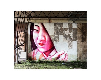 Geisha Image, graffiti photograph, Scotland