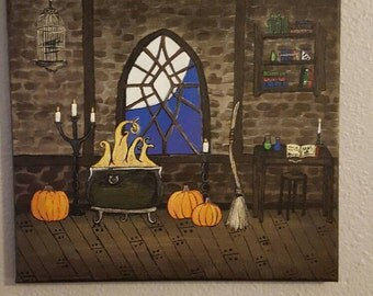 Witch's Den 12x12 canvas