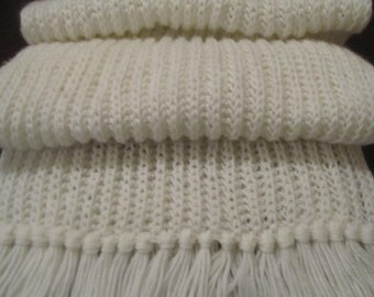 Long Scarf, white color