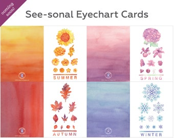 See-sonal Eyechart Card Set