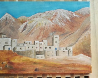 Morrocan oil painting on canvas.
