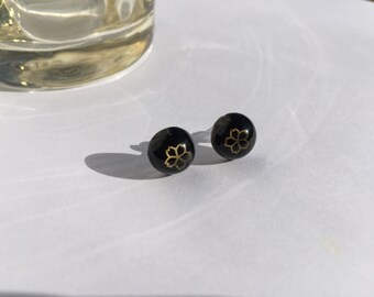 Japanese Cherry Blossom Stud Earrings