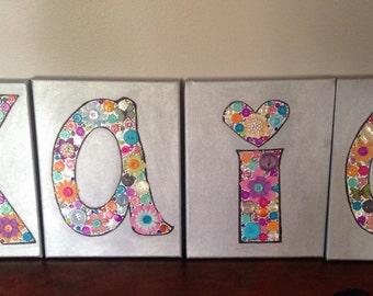 Sample. Nursery 15.00 per letter 8x10 canvas