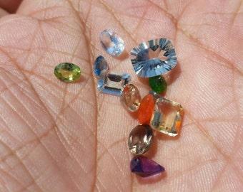 Cut Rare Gemstone lot