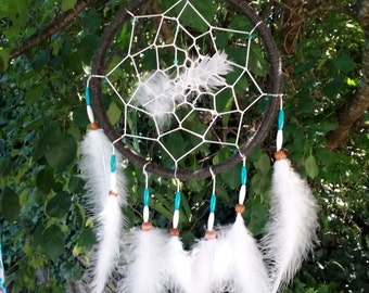 Black and Turquoise Dream Catcher