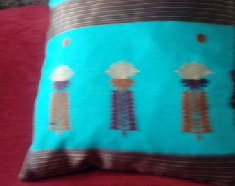 Indian cotton cushion.