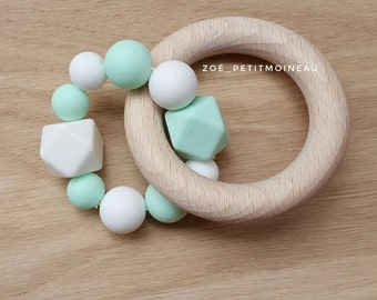 Rattle / Teether wood and silicone