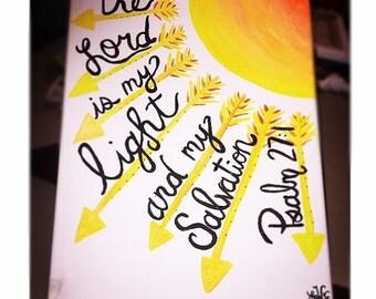 Psalm 27:1 Canvas