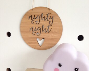 Nighty Night Wooden Wall / Door Hanging