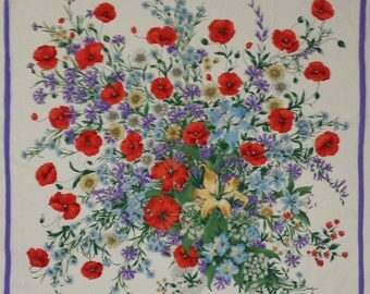 1980's ERRE silk scarf - floral pattern