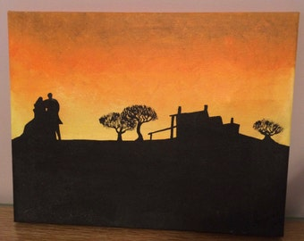 Gone with the Wind Silhouette Painting