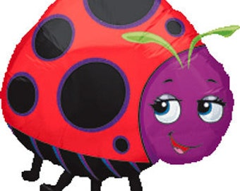 "Ladybug Party Balloon-25"" Mylar Balloon- Ladybug Theme Party"