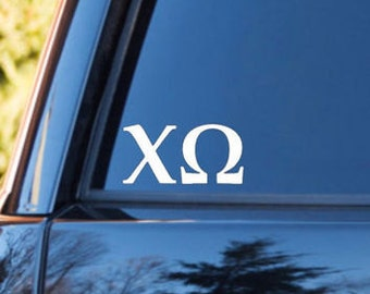 Chi Omega Decal