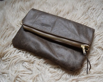 Leather Folded Clutch