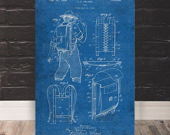Boyscout Backpack Patent Print
