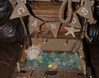 Lights-up-Card-Box-Money-Boxes-Wishing-Well-Wedding-Shower-Beach-Nautical-Sea