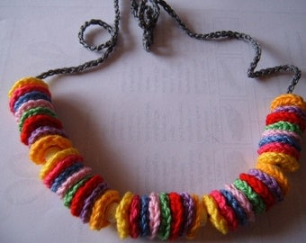 "Crochet chain ""Colorful"""