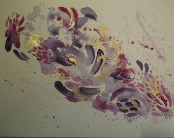 Swallows - Original Watercolour Painting