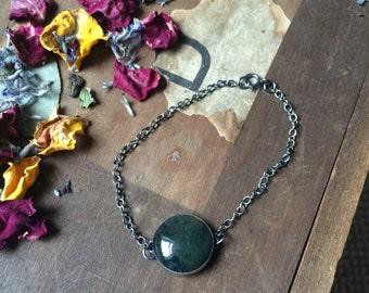 Handcrafted Sterling Silver Gemstone Bracelet