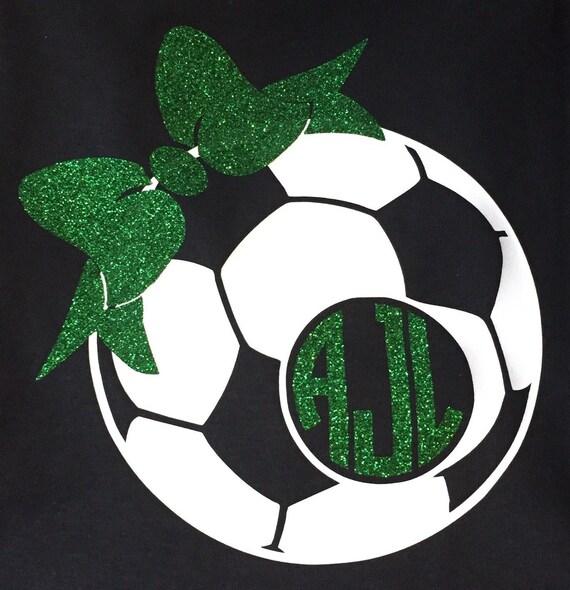 Soccer ball monogram tee - Front and back custom soccer kids shirt