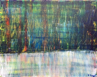 Skyz - Small Abstract Painting by Teddy Engel