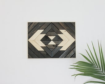 Geometric Wood Wall Art Hanging