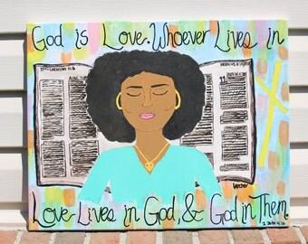 1 John 4:16 Print