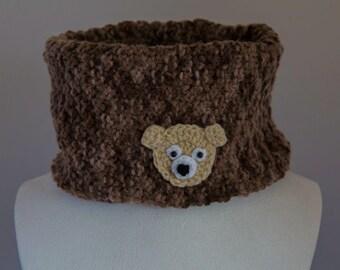 snood enfant tête d'ours