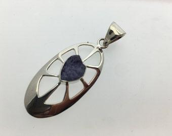 Tanzanite Sterling Silver Pendant