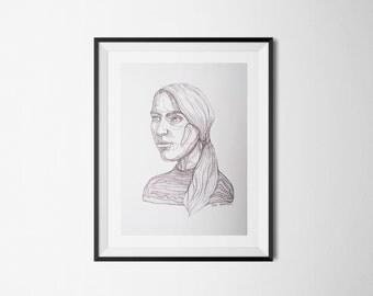 Simple portrait poster