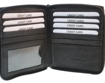 Pocket Armor Black RFID Zipper Wallet