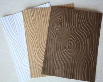 Embossed Wood Cardstock/ Embossed Paper/ Woodgrain/ Tree bark/ embossed cardstock