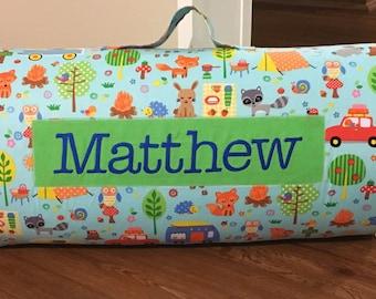 Camp Out Nap Mat/Kinder Nap Mat/Preschool Nap Mat/ Sleep Sack