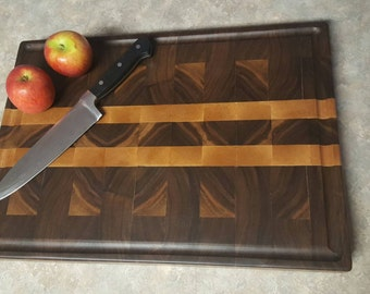 Walnut End Grain Cutting Board