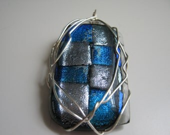 Handmade Fused Glass Pendant (45)