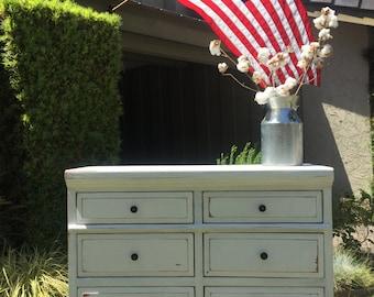 White Farmhouse Style Dresser