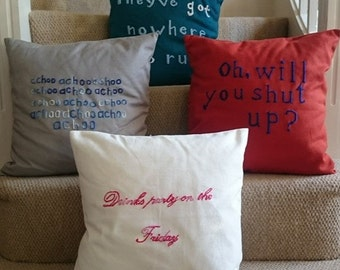 Personalised Embroidered Cushions