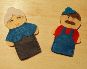 farmers finger puppets