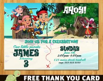 Jake and the Neverland Pirate Invitations, Jake and the Neverland Pirates Invitation