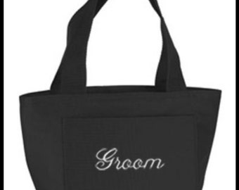 Embroidered Groom Lunch Bag