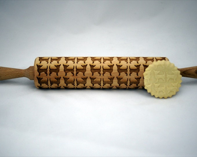 CHIHUAHUA DOG rolling pin, embossing rolling pin, engraved rolling pin for a gift, GIFT, gift ideas, gifts, unique, wedding
