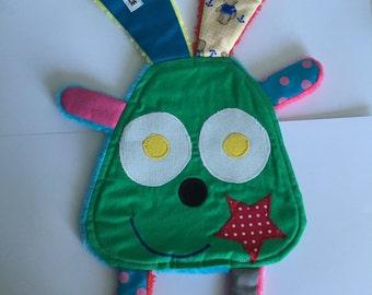 Doudou green Bunny